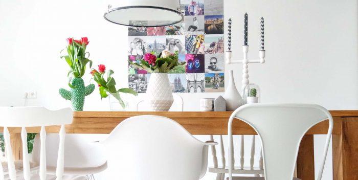 Live love interior - bloemen eetkamer