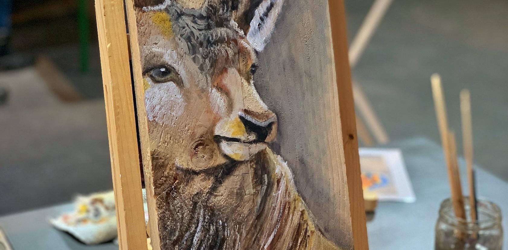 Workshop | Veluwe dier schilderen op hout
